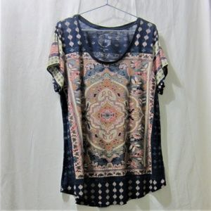 Lucky Brand size XL, Abstract Print Graphic Tee